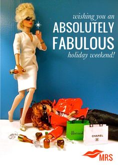 ABSOLUTELY FABULOUS WEEKEND,shop till you drop, pinned by Ton van der Veer