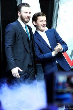 Chris Evans and Tom Holland<3