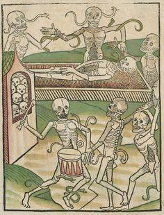 Bayerische Staatsbibliothe. Der doten dantz mit figuren, clage vnd antwort schon von allen staten der werlt, [Heidelberg], [no later than 1488]