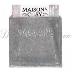 """Gazetnik metalowy / Gazetownik  """"Magazine"""" Chich Antique"""