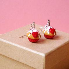 """Boucles d'oreilles """"Cupcakes Mon Amour"""" en Fimo"""