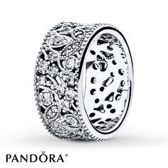 PANDORA Ring Shimmering Leaves Sterling Silver