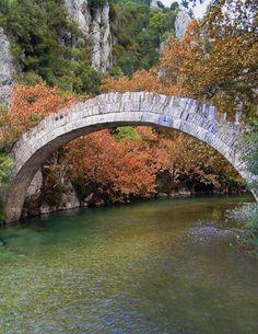 Bridge in Voidomatis River, Hepirus district, Greece