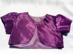 Alexandria of California USA Purple Bolero for Girls