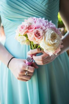 Sorority sister wedding bouquet- Delta Phi Epsilon!