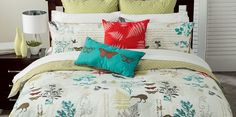 Linen House Vintage Kiwiana Robin Duvet Cover Sets  Co-ordinates