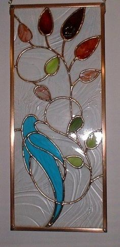 Panel is a 9 x 21 stained glass panel that