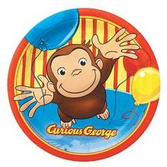 """Curious George 9"""" Plates [8 Per Pack]$4.99"""