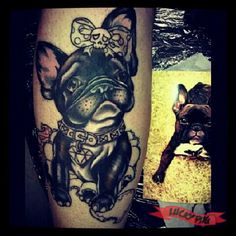 French Bulldog Tattoos | Boxer, Boston Terrier & British English Bulldog Tattoo Pictures | Squishy-Faced Dog Tattoo