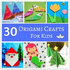 Take your pick from these awesome Origami crafts for kids to introduce your little one to the Japanese art of paper folding. With varying levels of difficulty, there's something for everyone! Origami Instructions For Kids, Easy Origami For Kids, Useful Origami, Origami Easy, Origami Paper, Christmas Art For Kids, Japanese Christmas, Christmas Ideas, Art Activities For Kids