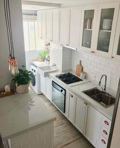 Diy Kitchen Cabinets, Kitchen Dining, Kitchen Decor, Kitchen Room Design, Kitchen Interior, Beautiful Kitchens, Decoration, Sweet Home, Home Decor