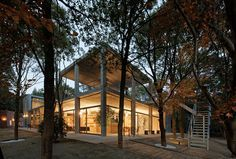 furuya design realizes japanese clubhouse in the forest