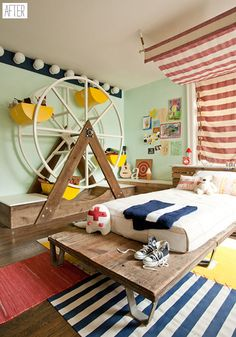 Circus-Themed Room: A perfect bedroom for a child with a big personality and an active imagination!