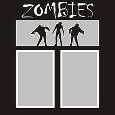 Want2scrap  Zombies - 12x12 Overlay  Scrapbook laser design page layout