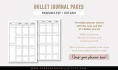 8 amazing minimalistic bullet journal layouts