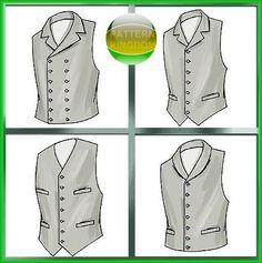 McCalls 4890 Mens Victorian Lined Vintage Vest OOP Patterns