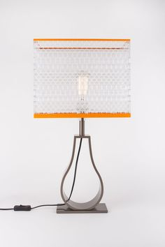 Large lego Brick Lamp by www.warrenbrickart.com/ Individually hand crafted using 1508 genuine Lego® pieces.