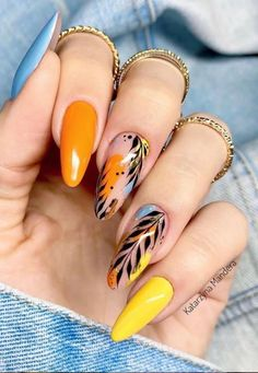 Semi-permanent varnish, false nails, patches: which manicure to choose? - My Nails Summer Acrylic Nails, Best Acrylic Nails, Spring Nails, Summer Nails, Dope Nails, My Nails, Gorgeous Nails, Pretty Nails, Nagel Bling