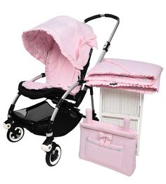 """""""ETOILE"""" Full Set. A remarkable and sunny design, with the innovative two-in-one canopy feature. Crafted in a pink cotton blend and embellished with our signature Etoile bow   *Full Set: Etoile Canopy, Etoile Seatliner, Etoile Bag, Etoile Blanket.  #pramcouture #pram #pramset"""