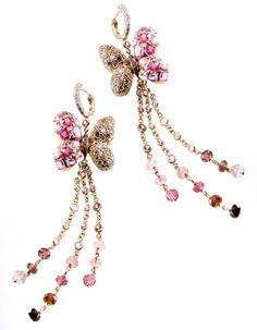 Papillon earrings, by Marco Valente