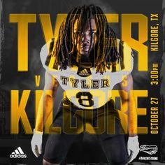 Tyler Junior College Football vs Kilgore – cates.design Adidas, College Football, Junior College, Design, Military Police
