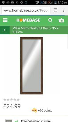 Argos walnut mirror