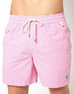 Polo Ralph Lauren Pink Gingham Swim Shorts