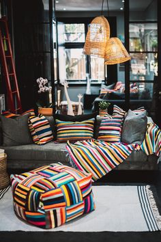 Shop this look online - Worlwide delivery! Scatter Cushions, Natural Texture, Lampshades, Bean Bag, Your Space, Hand Weaving, Sofa, Traditional, Contemporary