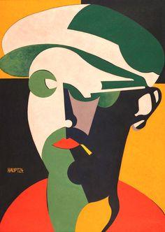 midcenturia:    Karl Hermann Haupt, Self Portrait, 1924