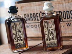 Woodinville Whiskey Co Barrel-aged Maple Syrup and Wildflower Honey, all I can say is they better hurry up and make this available for international shipping otherwise my breakfast will always be lacking something