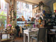 Laurence : restaurant, salon de thé, café, brocante, galerie, dépôt vente - Honfleur 2015 ©Etpourtantelletourne.fr