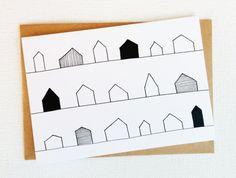 Kaart nieuwe huis nieuw huis kaart van SweetAndMellow op Etsy