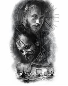 Norse Mythology Tattoo, Norse Tattoo, Tattoo On, Celtic Tattoos, Arm Band Tattoo, Arm Tattoo Viking, Viking Tattoos, Ragnar Lothbrok Vikings, Armband Tattoo Design