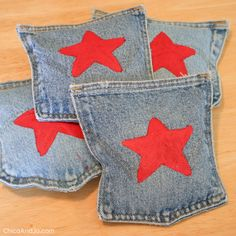 DIY bean bag toss game with denim pockets Diy Bean Bag, Bean Bags, How To Make A Bean Bag, Summer Holiday Activities, 4th July Crafts, Bag Toss Game, One Step, Denim Ideas, Old Jeans