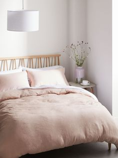 Buy Blush Pink John Lewis & Partners Linen Bedding, King duvet cover from our Duvet Covers range at John Lewis & Partners. Room Ideas Bedroom, Bedroom Furniture, Bedroom Decor, Bedroom Inspo, Bedroom Inspiration, Tan Bedroom, Master Bedroom, Garage Bedroom, Bedroom Interiors