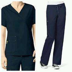 78ce7a2cef9 Sets 105432: New Wonderwink Medium Petite Scrub Set Medical Uniform Navy  Blue Utility Girl -> BUY IT NOW ONLY: $30 on eBay!
