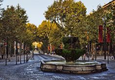 The Cours Mirabeau, Early Morning in Autumn