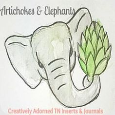 Creatively Adorned TN Inserts & Journals by ArtichokesElephants