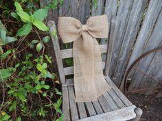 Toile de jute Pew Bow mariage rustique église Pew par OneFunDay