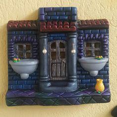 Cold Porcelain, Clay, Houses, Knitting, Crochet, Roof Tiles, Creativity, Ideas, Plaster