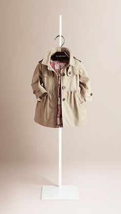 Trench Skirted Cotton Twill Trench Coat - Image 1