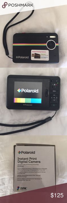 Instant Print Digital Camera Z2300 This is a digital Polaroid camera that has only been used once. Comes with all the accessories and instructions including a charger and an instant print digital camera software cd. Also comes with the box! (No trading) Polaroid Other