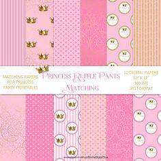 Matching voor partij Printables prinses Ruffle broek Roze