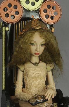 Steampunk Doll by miradolls BJD Cerridwen, Artist Doll OOAK