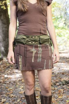 cute military green hip bag