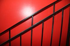 Black Staircase. Red Wall.