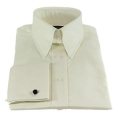 Edward Sexton'sIvory Slim-Fit Tab Collar Shirt can soften your look. An Elegant cream shirt, it flatters many skin tones and suits rich blues and browns.
