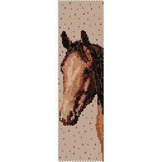 Brown Horse 3 Peyote Bead Pattern Bracelet от SmartArtsSupply