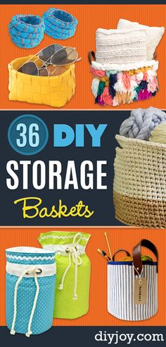 home decor baskets 36 DIY Storage Baskets Guaranteed To Have You Stop Dreading Organization DIY Storage Baskets- Cheap and Easy Ideas for Getting Organized - Creative Home Decor on A Budget - Farmhouse, Modern and Rustic Basket Projects Fabric Storage Boxes, Fabric Bins, Diy Storage, Storage Baskets, Storage Ideas, Cheap Storage, Storage Containers, Storage Solutions, Rustic Baskets