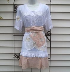 Upcycled Dress Altered Refashioned Embellished by Annierosevintage, $82.00